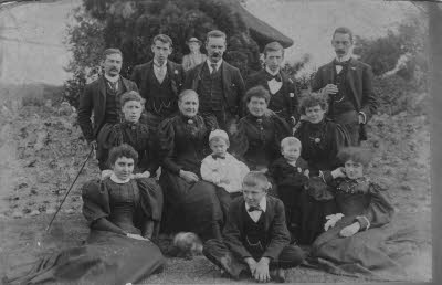 Attfield family group, Lee (Kent), 1896